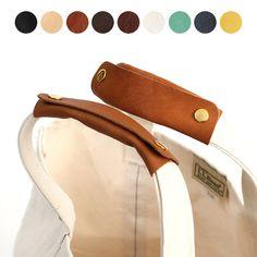トートバッグ用 ハンドルカバー [DM便 送料無料] レザー 本革 バッグ ワイド 全13色×金具3色【W】 LLBean エルエルビーン エルベシャプリエなどキャンバス バッグの持ち手に