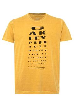 Camiseta MC Oakley Eye Chart Dorado - Compre Agora | Dafiti Brasil