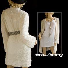 Vintage 80's Beaded White SILK Embellished Sequin Trophy Dress Jacket