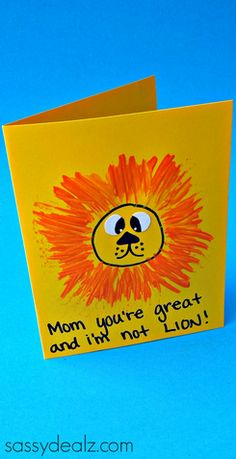Easy Lion Mother's Day Card for Kids to Make - Sassy Dealz
