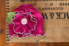 Bright Hot pink MayFlower beanie BABY girls headband - Snugars classic Mayflower hat. $38.00, via Etsy.