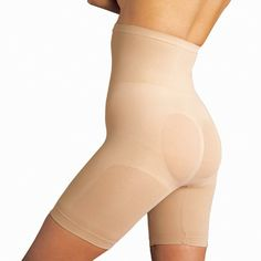 Highwaist Brief w/Legs  * Excellent midriff, tummy and back support  * High enough not to roll  * Lift and shapes the derriere, allowing curves and not flattening the bottom  * Great jiggle control