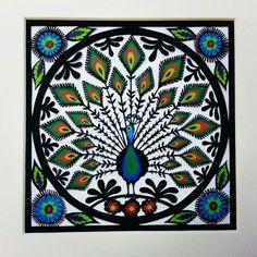 Peacock wycinanki by Suzy Taylor