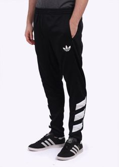 info for 390ae f8847 Adidas Originals Apparel Trefoil FC Track Pants - Black Mens Jogger Pants,  Adidas Track Pants