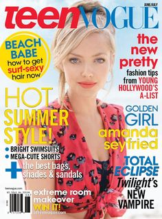 Amanda Seyfried June/July 2010 I love the sun bleached color of her hair!