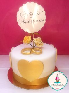 Tarta celebración 57 aniversario de casados
