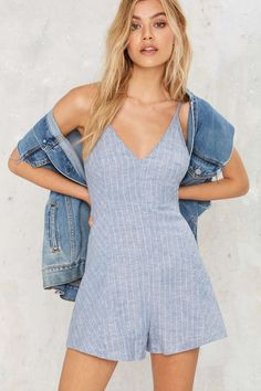 Pin for Later: Trending Outfits to Up Your Summer Fashion Game  Vanna Striped Romper ($58)