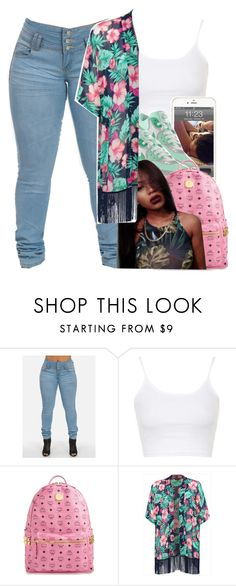 """Ayeee "" by jordanv ❤ liked on Polyvore featuring Topshop and MCM"