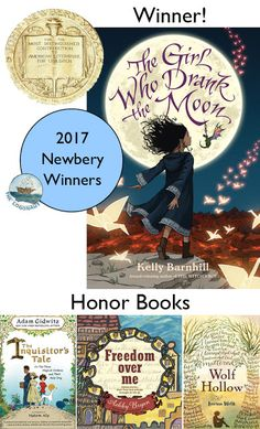 "Read ""The Girl Who Drank the Moon (Winner of the 2017 Newbery Medal)"" by Kelly Barnhill available from Rakuten Kobo. **Winner of the 2017 Newbery Award The New York Times Bestseller An Entertainment Weekly Best Middle Grade Book of 2016 . Good Books, Books To Read, My Books, Cover Design, Jhon Green, Newbery Medal, Newbery Award, Books 2016, 2017 Books"