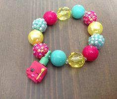Shopkins Charm Bracelet Shopkins Season 5 Pink Bracelet Girls Birthday Party…