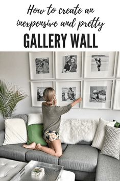 How to create a grid-style gallery wall of family photos! – This Mama Loves Life #DIYgallerywall #easygallerywall #ikeagallerywall #gridstyle #gallerywall