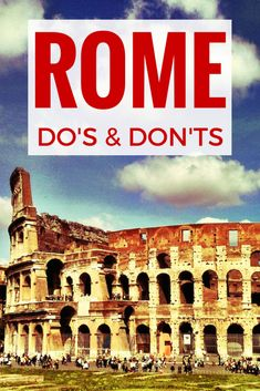 You're looking for some things to do in Rome? Here are my ultimate tips! Some do's and some don'ts for your perfect trip to Rome! The must do's when in Rome and what kind of things you should never ever do when in Rome! Plus: there's a VIDEO!