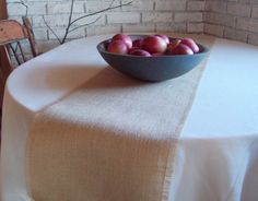 Table Runner, 108 Inches Long, Choice Of Widths And Burlap Color, Burlap Table  Runner, Autumn Harvest Runner, Rustic Fall Table Decor