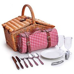 picnic basket blanket camping outdoors pinterest pique niques panier et tressage de. Black Bedroom Furniture Sets. Home Design Ideas