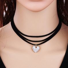 Cheap Fashion online retailer providing customers trendy and stylish clothing including different categories such as dresses, tops, swimwear. Choker Necklace Online, Layered Choker Necklace, Layered Chokers, Heart Choker, Black Choker, Black Necklace, Leather Tassel, Leather Earrings, Cute Jewelry