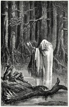 Ernest Griset (1844-1907), 'Mercury and the woodsman', Illustration from Æsop's fables, with text based chiefly upon Croxall, La Fontaine and L'Estrange, London, New York, 1869
