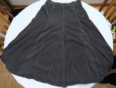 The Territory Ahead A-Line Skirt Sz 12 Long Length No Slit Gray Corduroy Modest #TheTerritoryAhead #ALine
