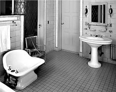 Vintage baths are back! Featuring vintage bathroom fixtures, bathroom lighting, vintage bath design tips and resources. Mold In Bathroom, Bathroom Fixtures, Bathroom Lighting, Washroom, Bathroom Ideas, Bathroom Cost, Victorian Interiors, Victorian Homes, Victorian Bathroom