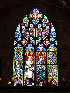 Barcelona Cathedral of Santa Eulalia Stained Window