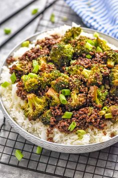Ground Beef And Broccoli, Broccoli Beef, Broccoli Recipes, Hamburger Recipes, Healthy Foods, Healthy Recipes, Skillet Dinners, Easy Weeknight Dinners