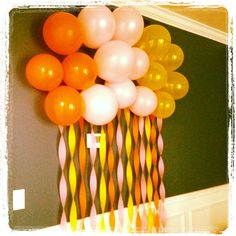 Ready to Pop Baby Shower - Balloon and streamer wall