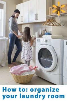 keep your laundry room neat and tidy with organizing essentials from shelves to garment racks