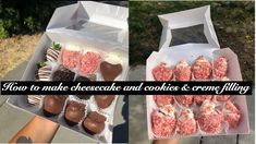 How to make cheesecake and cookies & creme filling - YouTube Strawberry Vanilla Cake, How To Make Cheesecake, 8 Oz Cream Cheese, The Creator, Beef, Cookies, Food, Youtube, Strawberry Fruit