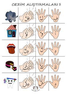 Alphabet Worksheets, Preschool Worksheets, Preschool Crafts, Teaching Kids, Kids Learning, Montessori, Values Education, Learning Arabic, Infant Activities
