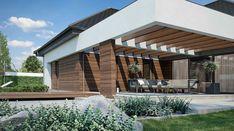 HomeKoncept-26 - zdjęcie 3 Village House Design, Village Houses, House 2, Modern House Design, Planer, House Plans, Pergola, New Homes, Outdoor Structures