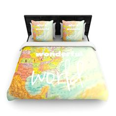Map print duvet cover shams this is perfect for us home map print duvet cover shams this is perfect for us home pinterest duvet printing and bedrooms gumiabroncs Image collections