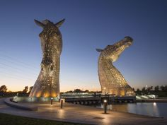 Opened in 2014, the Kelpies are a very recent addition to Scotland's landscape, but they already have a place in heart of all Falkirk residents. The Kelpies, which take the form of horse-like heads, are each 30 meters high and weigh a massive 335 tons.  VisitScotland