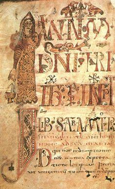 Геллонский Сакраментарий (Париж, Национальная библиотека), созданный в монастыре Геллон в период 790-795 гг., хронологически относится уже ко времени правления Карла Великого, хотя по стилю иллюминации эта рукопись тоже прекаролингская.