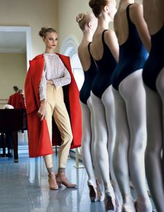 Anna Selezneva with Ballet Students by Patrick Demarchelier for Vogue Russia