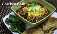 This Chicken Chili is a savory dish that has a slight mole flavor. It's perfect any time of year and especially yummy served with other latin inspired sides. recipes.ioucoffee.com/2012/05/bolivias-best-chicken-chili...     Here with a list of Recipe Ideas.