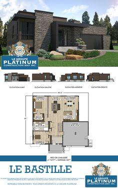 Modèle de maison neuve : Le Bastille - Le Groupe Platinum - Construction de maisons et condos neufs.