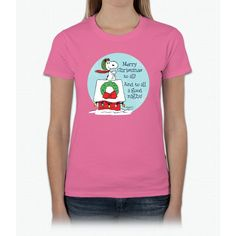 Snoopy: Merry Christmas To All Ladies T-Shirt