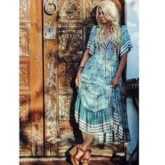 Boho Inspired Floral Print Summer Dress-Boho Dress 61cacd49d