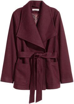 H&M Wool-blend Jacket - Dark gray - Ladies