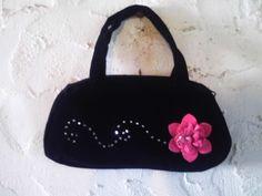 handbag de terciopelo bordado a mano