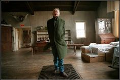 Andrew Wyeth in his dad's (NC Wyeth) studio, Chadd's Ford, PA
