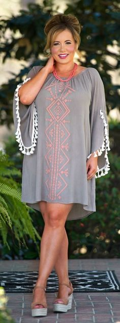 Perfectly Priscilla Boutique - Secrets For The Sahara Dress - Taupe, $43.00 (http://www.perfectlypriscilla.com/secrets-for-the-sahara-dress-taupe/)