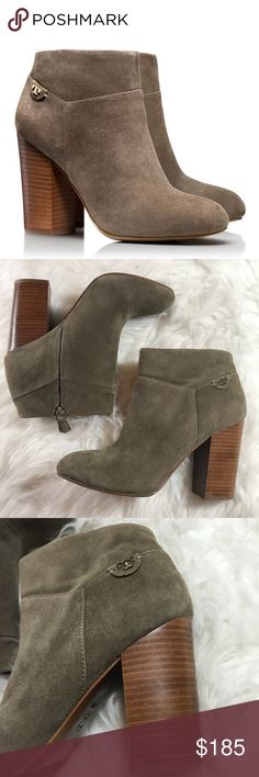 "Tory Burch Grey Fulton Bootie sz 10 Tory Burch Fulton Booties in grey suede.  4"" heel.  Excellent condition. Worn once. Size 10. Tory Burch Shoes Ankle Boots & Booties"