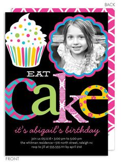 Let's Eat Cake Photo Invitations