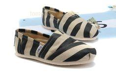Toms black streak shoes