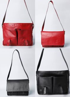 Montague Leather Messenger, in black and burgundy red.  http://www.brooklynindustries.com/made-in-brooklyn-bags/montague-leather-messenger