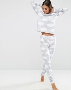 Buy ASOS LOUNGE Cloud Jogger at ASOS. Get the latest trends with ASOS now. Pyjamas, Cozy Pajamas, Lazy Day Outfits, Cute Outfits, Pijamas Women, Cute Pijamas, Cute Christmas Outfits, Christmas Time, Girl Clothing