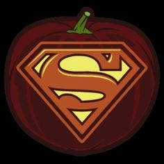 Superman Pumpkin Stencil