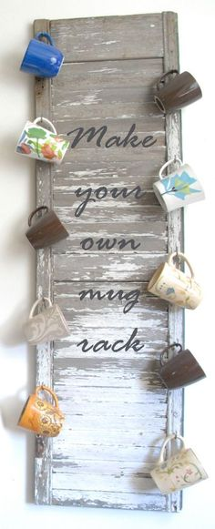 What you can do with an old shutter is remarkable. Check out local yard sales, thrift stores or your own home for great finds to plan your next at home project. I can't wait to add one to my bedroom!                                                                                                                                                                                 More