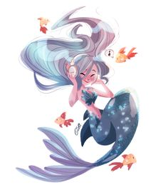"Mermay: 04 ""even mermaids need music too"" I'm so excited to be collaborating with with their release of the Regent Bluetooth headphones and I love them! They're beautifully minimalistic and the sound quality is good too if you're interested,. Mermaid Artwork, Mermaid Drawings, Mermaid Paintings, Art Anime Fille, Anime Art Girl, Fantasy Mermaids, Mermaids And Mermen, Art And Illustration, Mermaid Illustration"