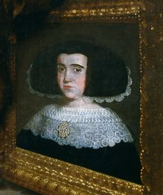 María Amezquita. Detail from bigger painting by Fransisco Caro (1659).